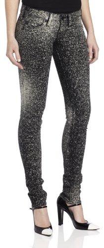 True Religion Women's Stella Splatter Skinny Jean in Black