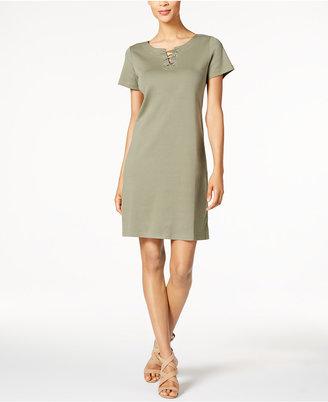 Karen Scott Lace-Up Sheath Dress, Only at Macy's $44.50 thestylecure.com
