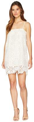 BB Dakota Danna Medallion Patterned Lace Dress with Bobble Trim Women's Dress