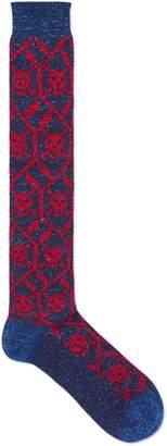 Geometric skulls stretch cotton socks $95 thestylecure.com