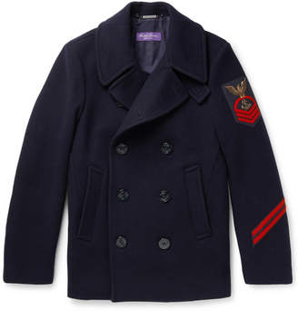 Ralph Lauren Purple Label Embellished Wool And Cashmere-Blend Peacoat