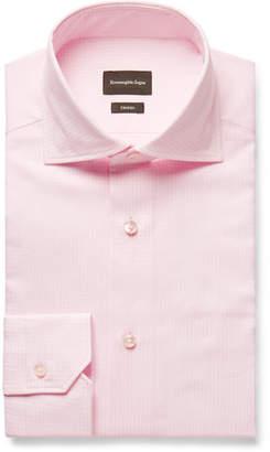 Ermenegildo Zegna Trofeo Pink Gingham Cotton-Poplin Shirt