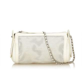 Chanel Vintage Perforated Caviar Leather Chain Bag