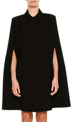 Stella McCartney Wool Coat Cape with Volcano Embroidered Back