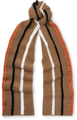 Maison Margiela Striped Wool Scarf