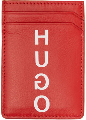 HUGO Red Money Clip Card Holder