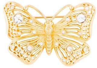 Christian Dior Crystal Butterfly Brooch
