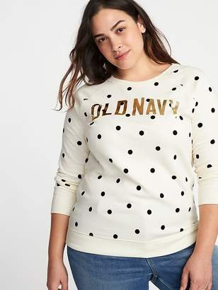 Old Navy Graphic French Terry Plus-Size Sweatshirt