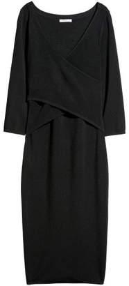 H&M Fine-knit Dress - Black