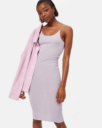 Topshop Ribbed Midi Bodycon Dress