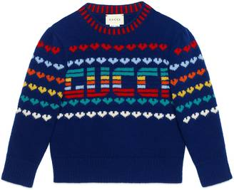 Children's Gucci intarsia wool cashmere sweater $410 thestylecure.com