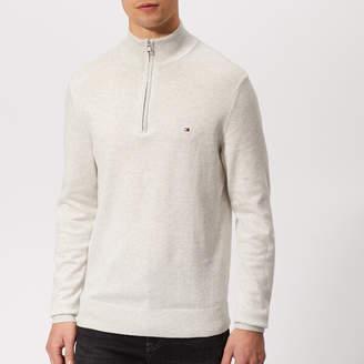 Tommy Hilfiger Men's Cotton Silk Zip Sweater