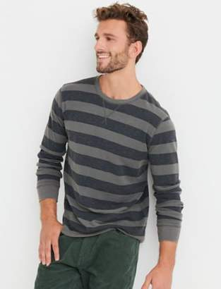 Lucky Brand 20S SLUB THERMAL Y/D STRIPE CREW