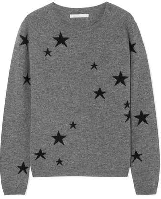 Chinti and Parker Star Cashmere Sweater - Gray