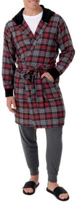 Fruit of the Loom Men's Flannel Hooded Robe