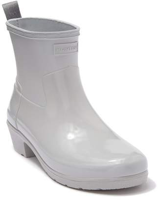 Hunter Refined Low Heel Biker Rain Boot
