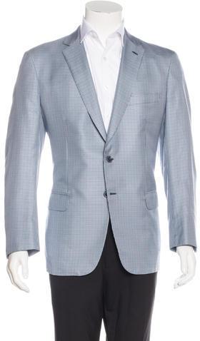 BrioniBrioni Colloseo Plaid Silk Blazer