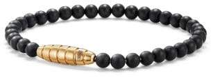 David Yurman Davidyurman Southwest Bead Bracelet In Black Onyx And 18K Gold
