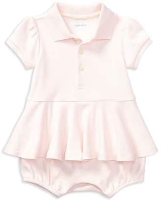 Ralph Lauren Girls' Polo Peplum Shortall - Baby