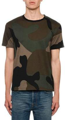 Valentino Men's Army Camo T-Shirt