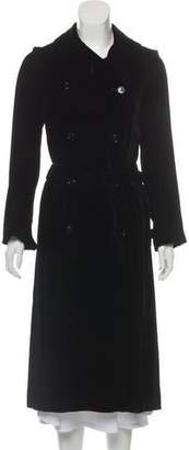 Bergdorf Goodman Notch-Lapel Long Coat