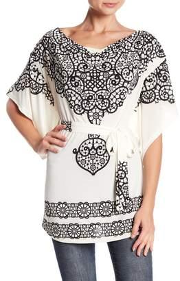 Papillon Cowl Neck Kimono Sleeve Blouse
