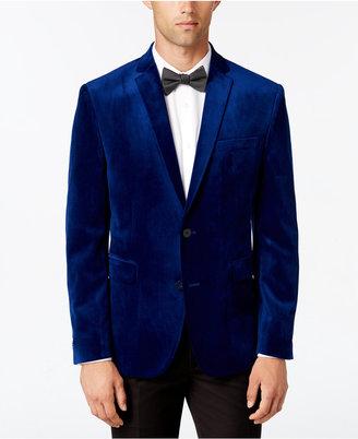 Bar III Men's Slim-Fit Cobalt Blue Velvet Sport Coat, Only at Macy's $295 thestylecure.com