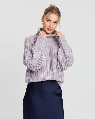 Supre Lily Long Sleeve High Neck Knit