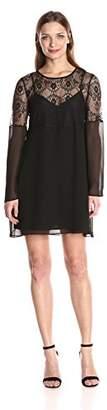 BCBGeneration Women's Long Sleeve Lace Dress