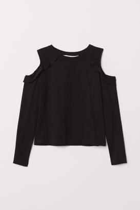 H&M Open-shoulder Top - Black