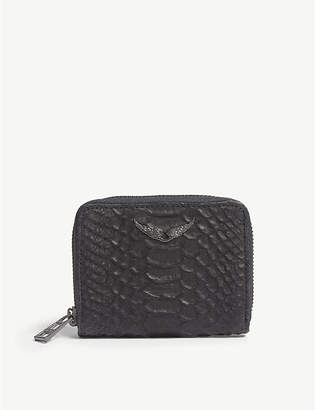Zadig & Voltaire Noir Black ZV Leather Wallet