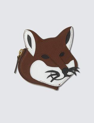 MAISON KITSUNÉ Leather Fox Head Coin Purse