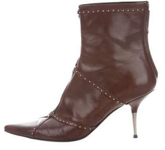 Christian Dior Leather Knee-High Boots Brown Leather Knee-High Boots