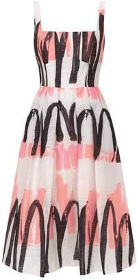 f13efec7ff27 Milly Camilla Printed Midi Dress