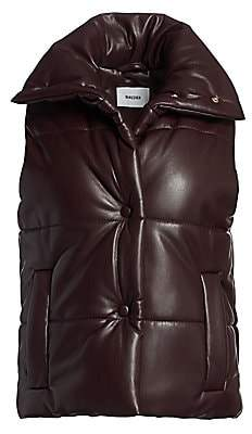 Nanushka Women's Morillo Vegan Leather Quilted Vest