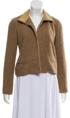 Ralph Lauren Wool Herringbone Jacket Beige Wool Herringbone Jacket