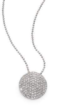 Phillips House Pave Diamond& 14K White Gold Infinity Disc Pendant Necklace
