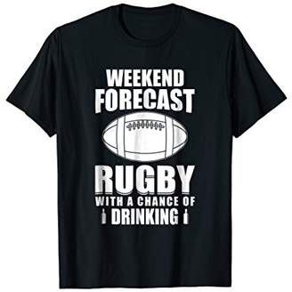 Funny Rugby T Shirt for players who drink beer