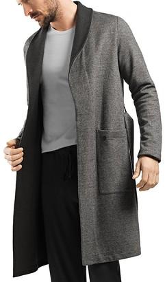 Hanro Davide Reversible Cotton Jersey Robe $348 thestylecure.com
