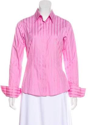 Thomas Pink Long Sleeve Button-Up