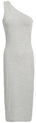 Ninety Percent One-shoulder Melange Stretch-jersey Midi Dress