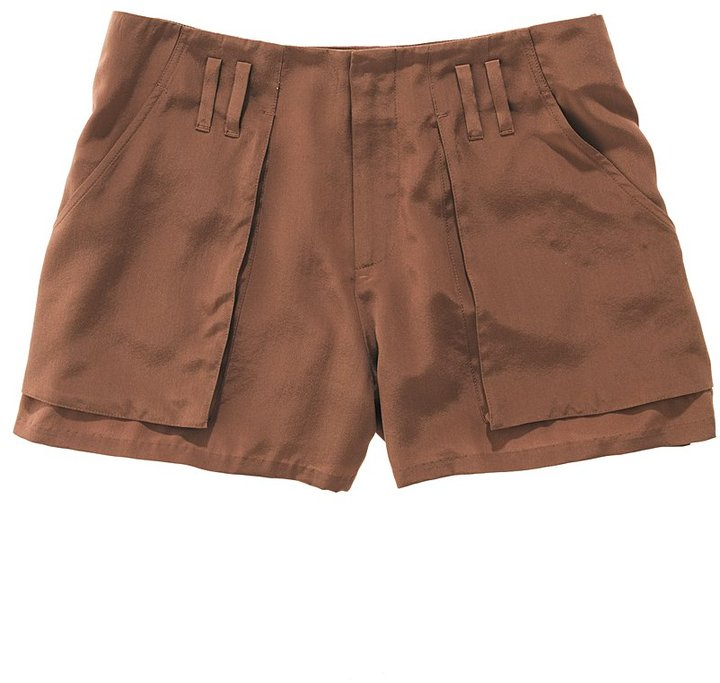 Silk safari shorts