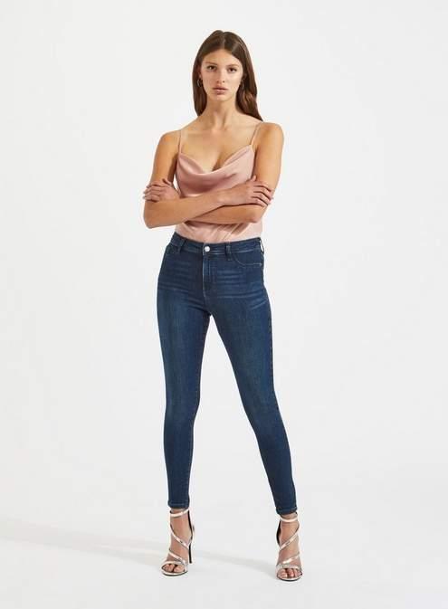 Steffi super high waist dark blue jeggings