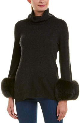 Sofia Cashmere Sofiacashmere Turtleneck Cashmere Sweater