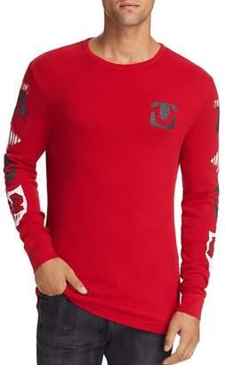 True Religion Varsity Logo-Print Thermal Shirt
