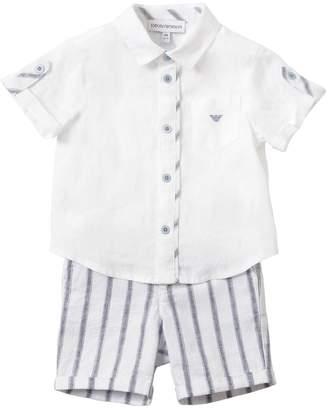 Emporio Armani Linen Shirt & Pants