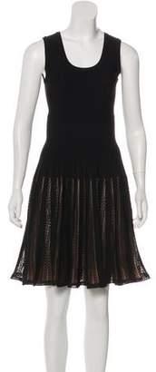 Alaia Lace-Accented Mini Dress
