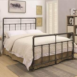 Silas Coaster Company Queen Bed in Black Antique Brass