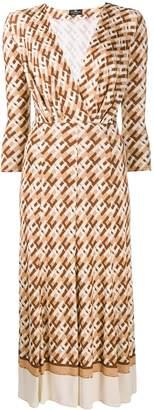 Elisabetta Franchi logo print dress