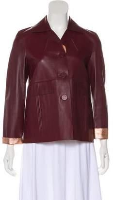 Marni Metallic-Accented Leather Jacket
